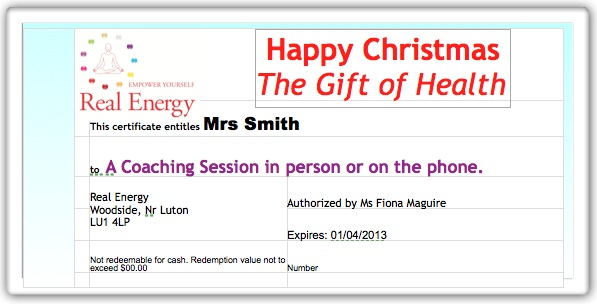 Coaching Gift Certificate with Fiona Maguire