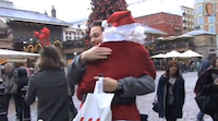 Christmas Hugs in London 2013.