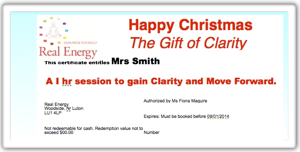 Example Coaching Gift XMAS 13